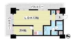 花隈ダイヤハイツ 301の間取