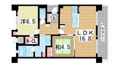 KAISEI神戸海岸通第2 904の間取