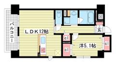 エスポアール神戸 307の間取