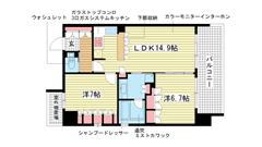 リーガル神戸三宮 1403の間取