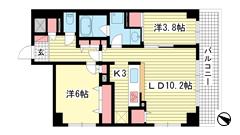 ライオンズマンション三宮東第3 401の間取