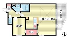 ワコーレ神戸元町マークス 802の間取