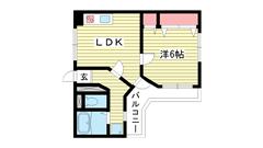 ロイヤルメゾン東須磨 503の間取
