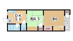平野マンション 502の間取