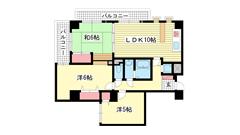 ライオンズマンション神戸湊町公園 801の間取