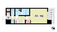 アドバンス神戸プリンスパーク 201の間取