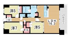 ワコーレシティ神戸三宮 825の間取