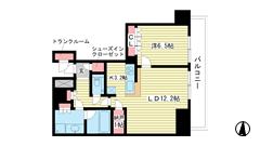 ザ・パークハウス神戸ハーバーランドタワー 610の間取