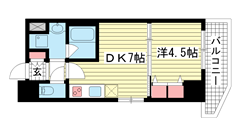スプランディッド神戸北野 209の間取