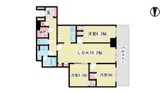 ザ・パークハウス神戸ハーバーランドタワー 703の間取