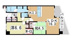 レジュール ザ・元町駅前 1003の間取