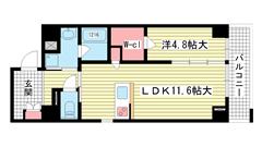 Kobe Bonheur Residence 301の間取