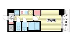 ファステート神戸アモーレ 902の間取