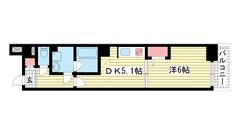 バックス神戸WEST 601の間取