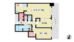 シティタワー神戸三宮 4309の間取