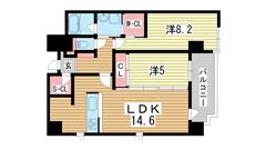 ルキシア神戸 1303の間取