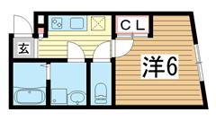 モダンアパートメント神戸湊川 103の間取