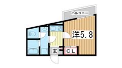 モダンアパートメント神戸湊川 301の間取