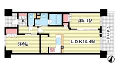 ワコーレ神戸三宮トラッドタワー 810の間取