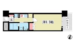 リーガル神戸三宮フラワーロード 1202の間取