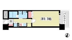 リーガル神戸三宮フラワーロード 503の間取