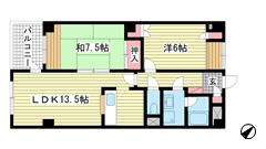 リバーコート湊川Ⅱ 306の間取