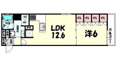 リーガル神戸三宮フラワーロード 804の間取