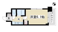 エステムコート神戸西Ⅱ 209の間取