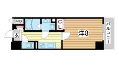 ネット無料★宅配BOX★防犯カメラ★自転車置場★浴室乾燥★ウォシュレット★ 410の間取