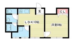 ル・シェール新神戸 201の間取