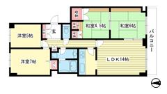 神戸パークシティB棟 1201の間取