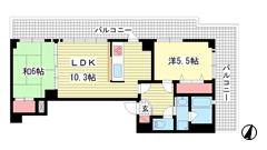 ワコーレデュプレックス神戸 1304の間取