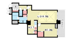 アーバンライフ神戸三宮ザ・タワー 703の間取