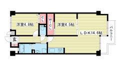 ワコーレ長田綜合ビル 602の間取