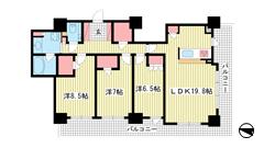 ライオンズタワー神戸元町 2202の間取