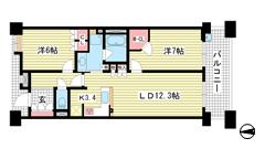 ベリスタ神戸旧居留地 2206の間取