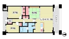 ベリスタ神戸旧居留地 2109の間取