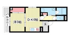 新神戸都マンション 302の間取