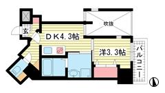 THE GRID北野坂 303の間取