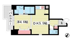THE GRID北野坂 701の間取