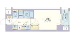レジデンス神戸グルーブHarborWest 702の間取