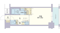 レジデンス神戸グルーブHarborWest 207の間取