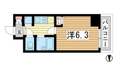 ロイヤルヒル神戸三ノ宮 810の間取