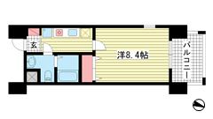 ライジングコート深江本町フラワーパーク 303の間取