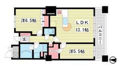 ライオンズタワー神戸旧居留地 604の間取