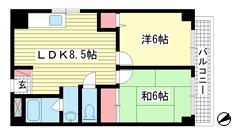 ハッピーコート魚崎 508の間取