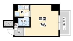 ライオンズマンション神戸西元町 804の間取