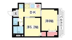 シルフィードARATA(旧:吉田マンション 501の間取