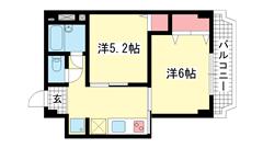 シルフィードARATA(旧:吉田マンション 504の間取