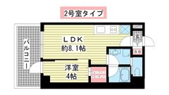 ブエナビスタ神戸駅前 1302の間取